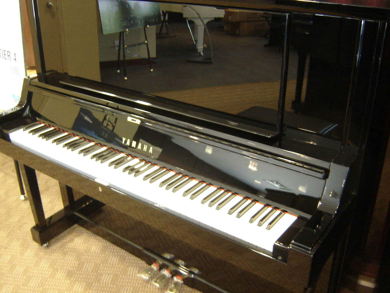 Used yamaha y series piano merriam pianos for Yamaha music school locations