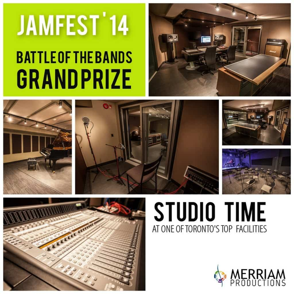 Grand Prize - Studio Time at Merriam Productions