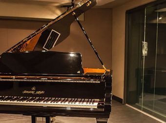 recording studio grand piano