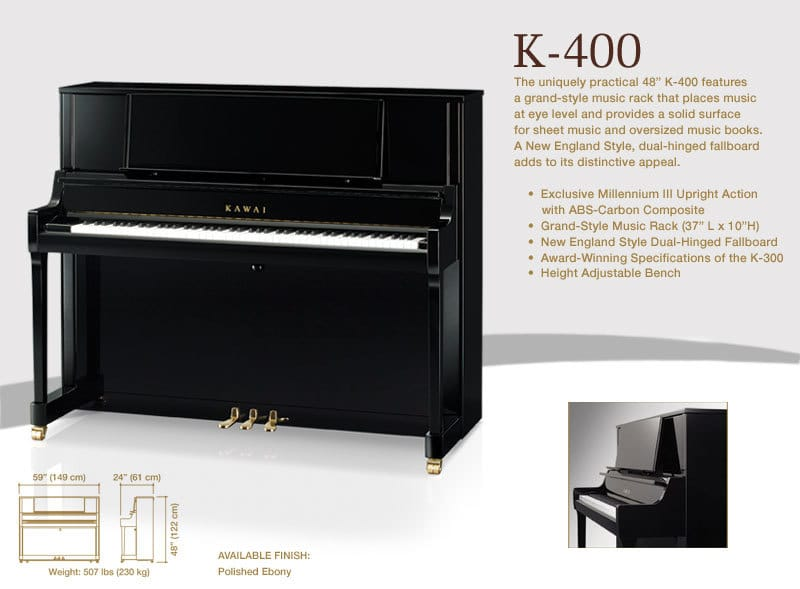 Of all Kawai Pianos, Why the K400 got so much attention at