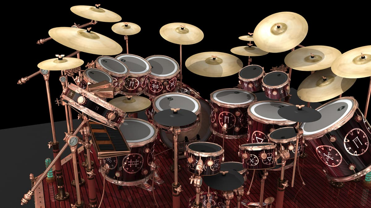 Neil Peart Gives Us A Tour Of His Drum Set