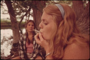 teenager smoking