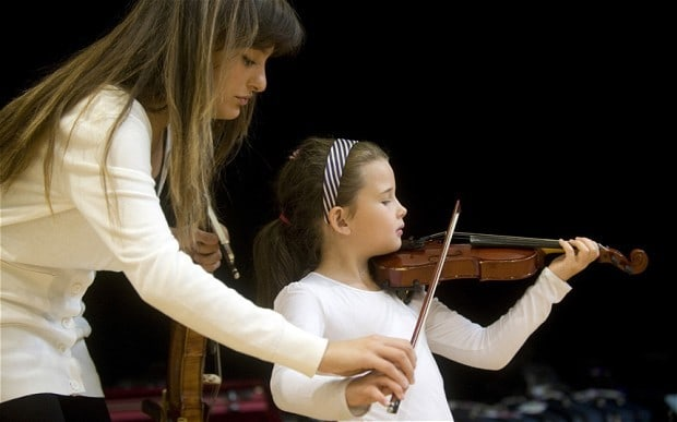 Benedetti is involved with the Sistema Scotland music education and its Big Noise Orchestra PHOTO: Marc Marnie