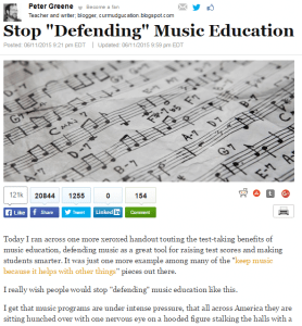 huffington music education