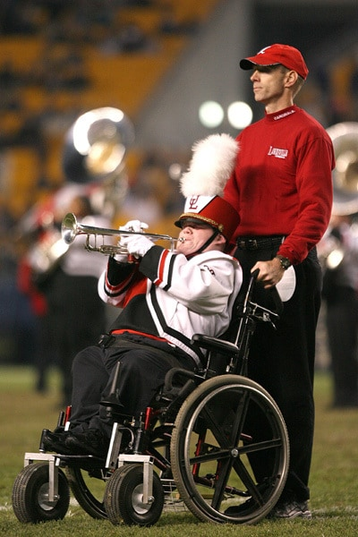 patrick with dad - marching band