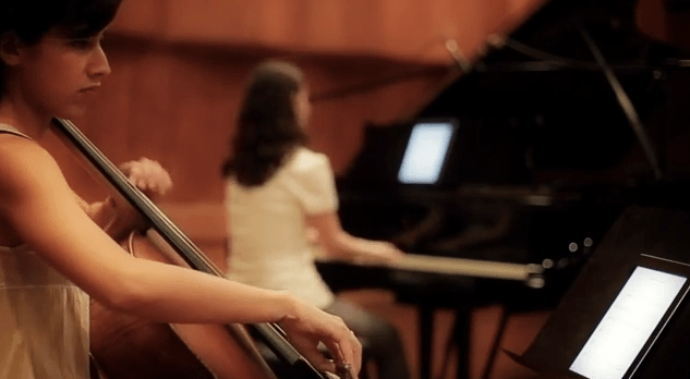 using sheet music apps