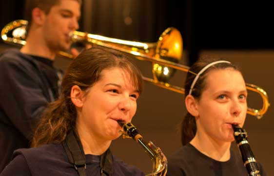 Music students perform