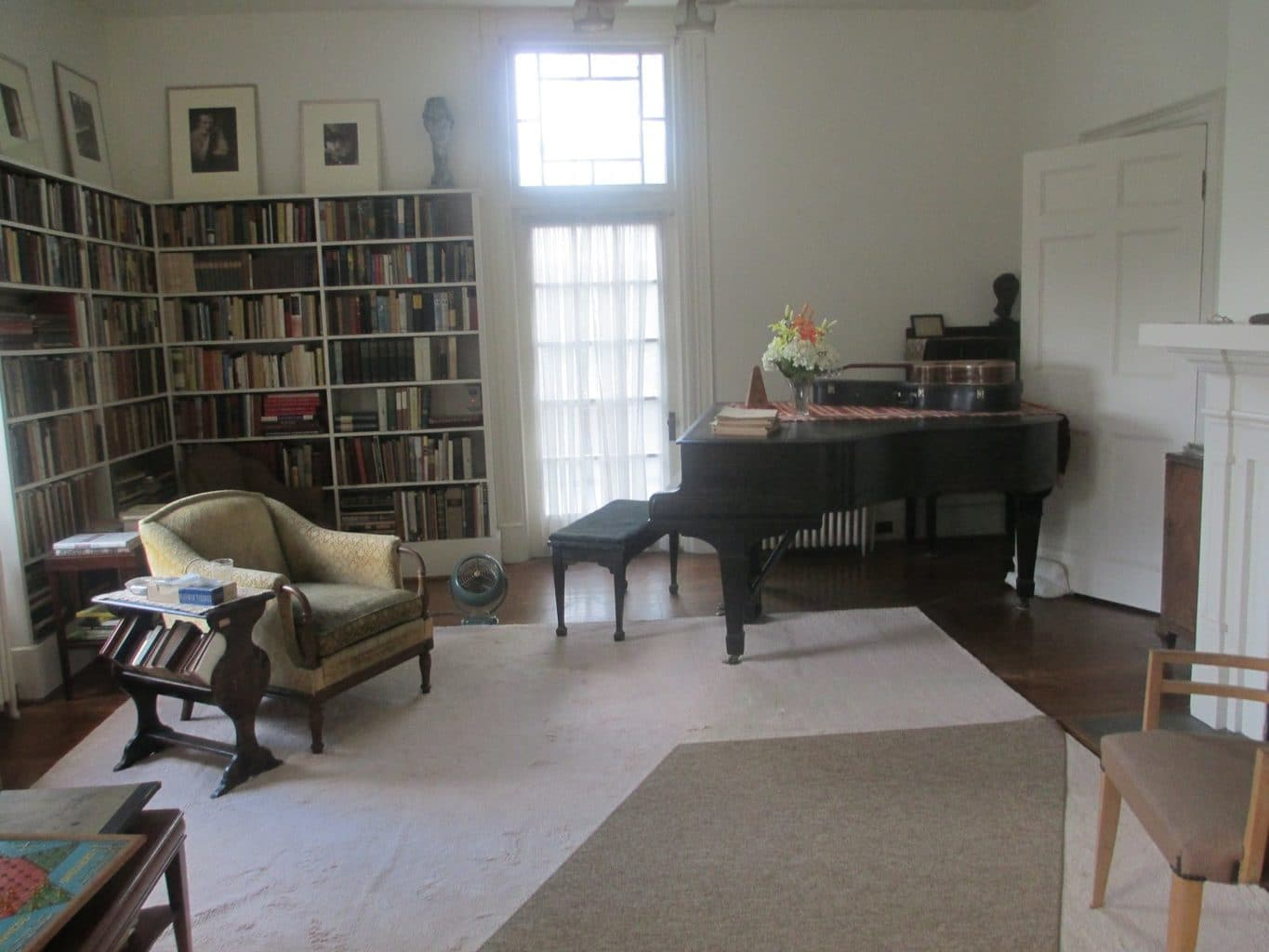 parlor with piano