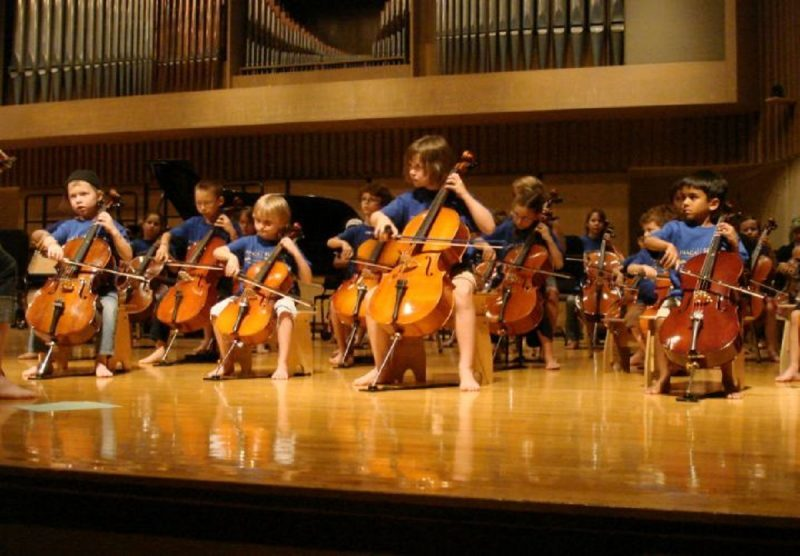 kids playing cello