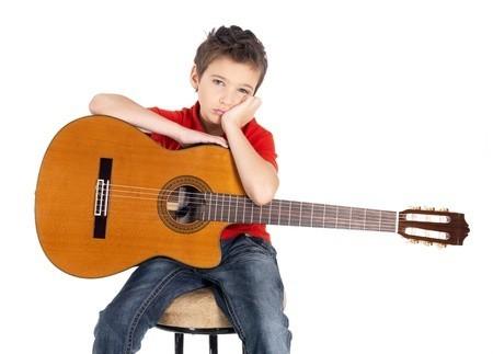 bored guitar student