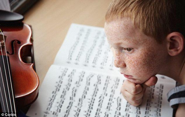boy with music score