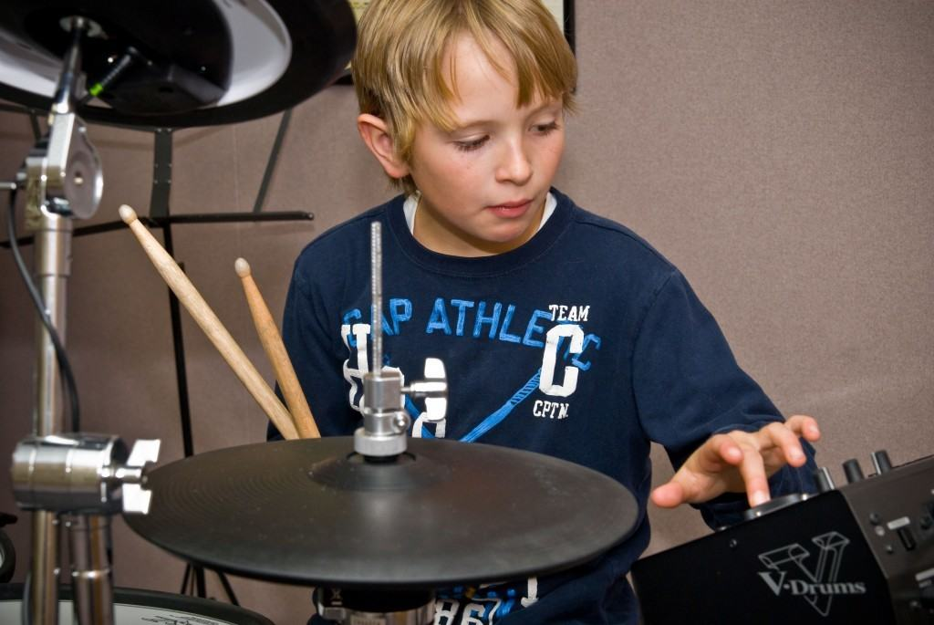 young drummer