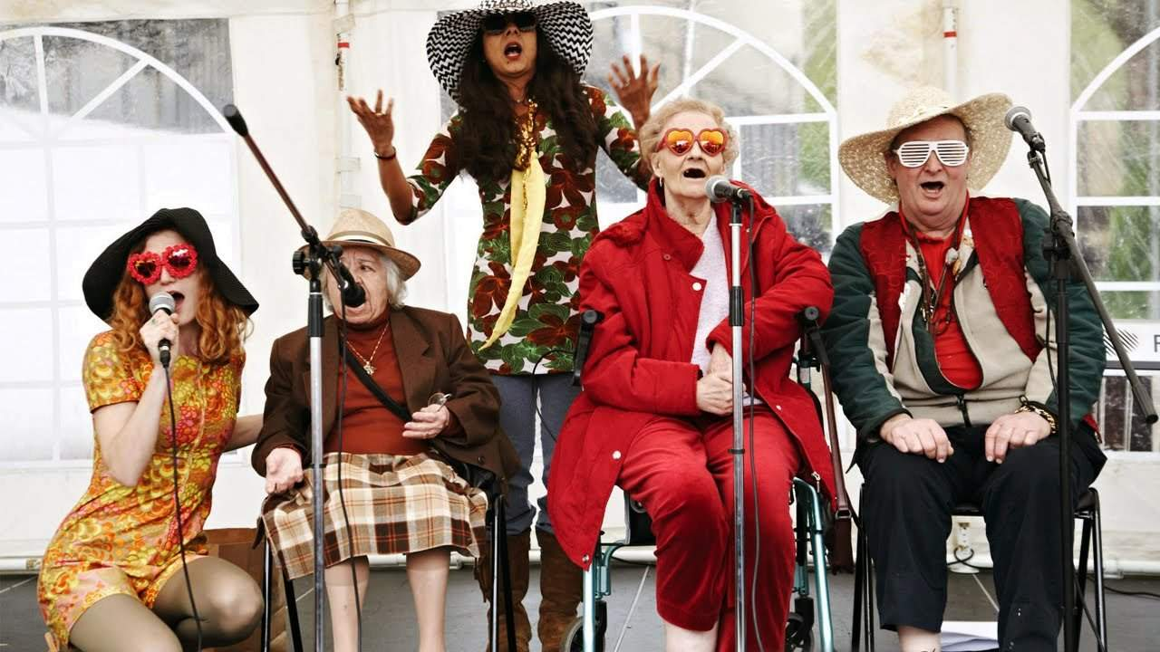 elderly singing