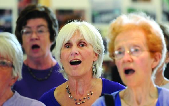elderly women sing