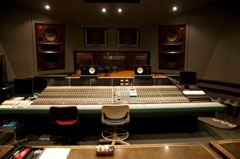 recording studio control room center