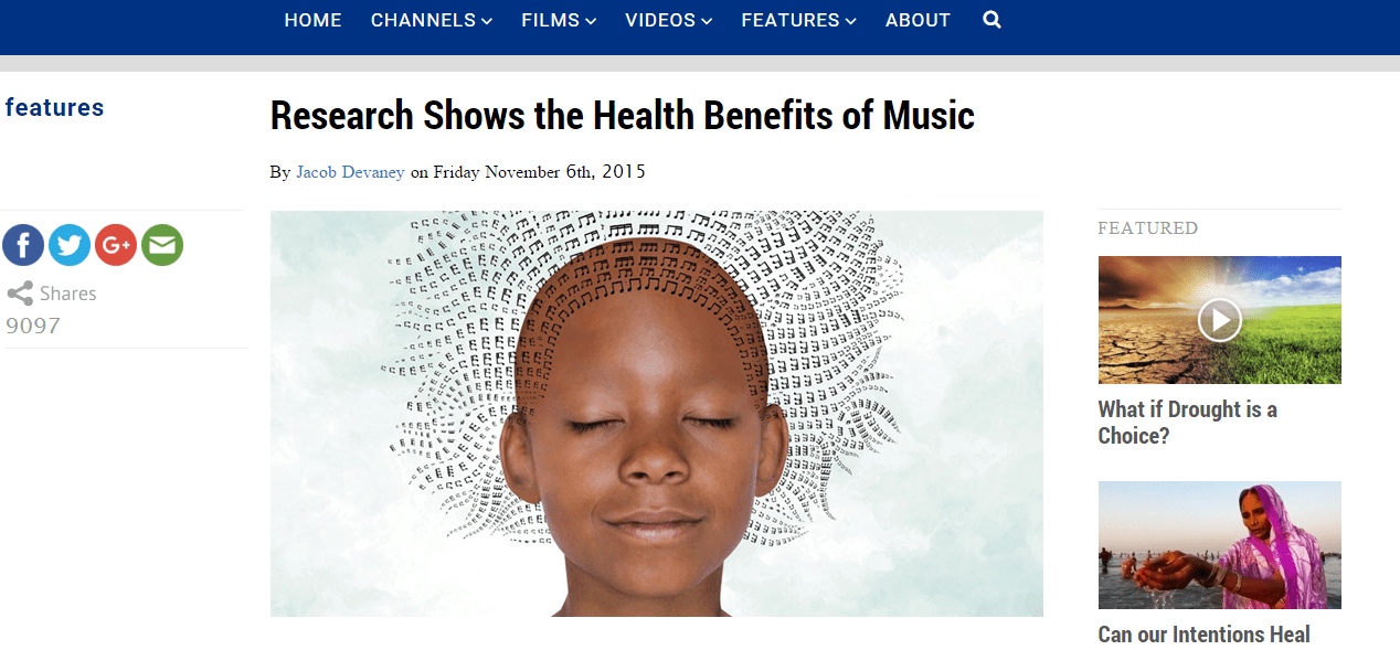 the benefits of music Her study compared the benefits of music to those of meditation—a practice in vogue for its mental-health perks she found that both practices were linked to significant improvements in mood and.