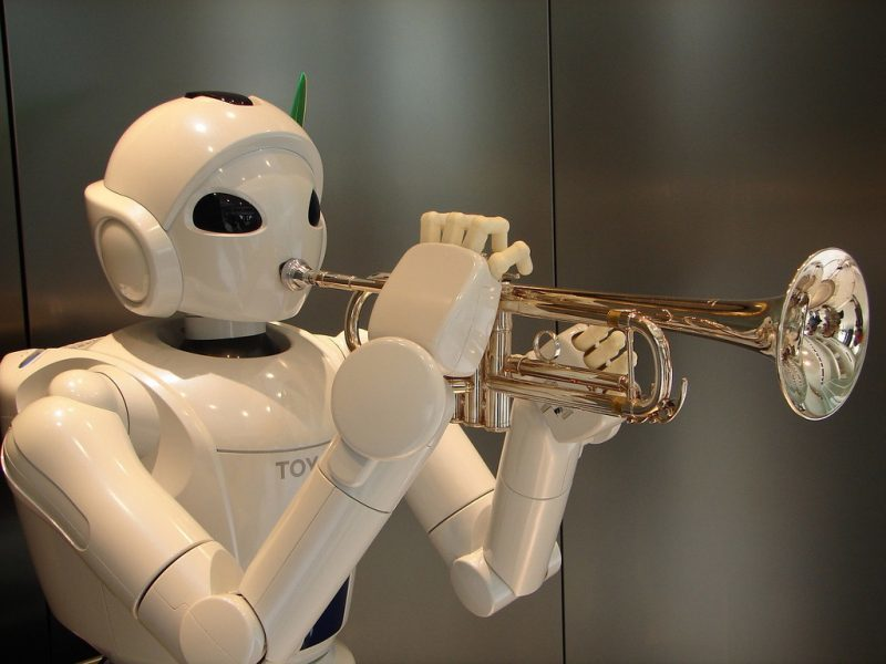 robot trumpet