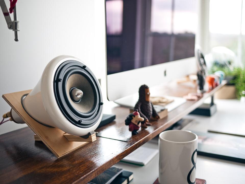 speaker desk