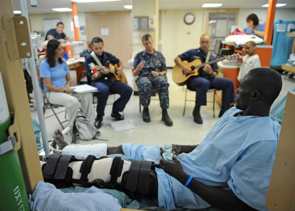 playing music for patients