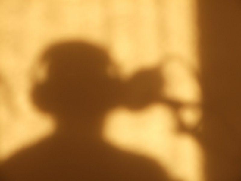 singing silhouette