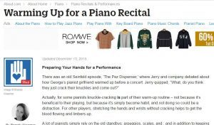 piano warm up article