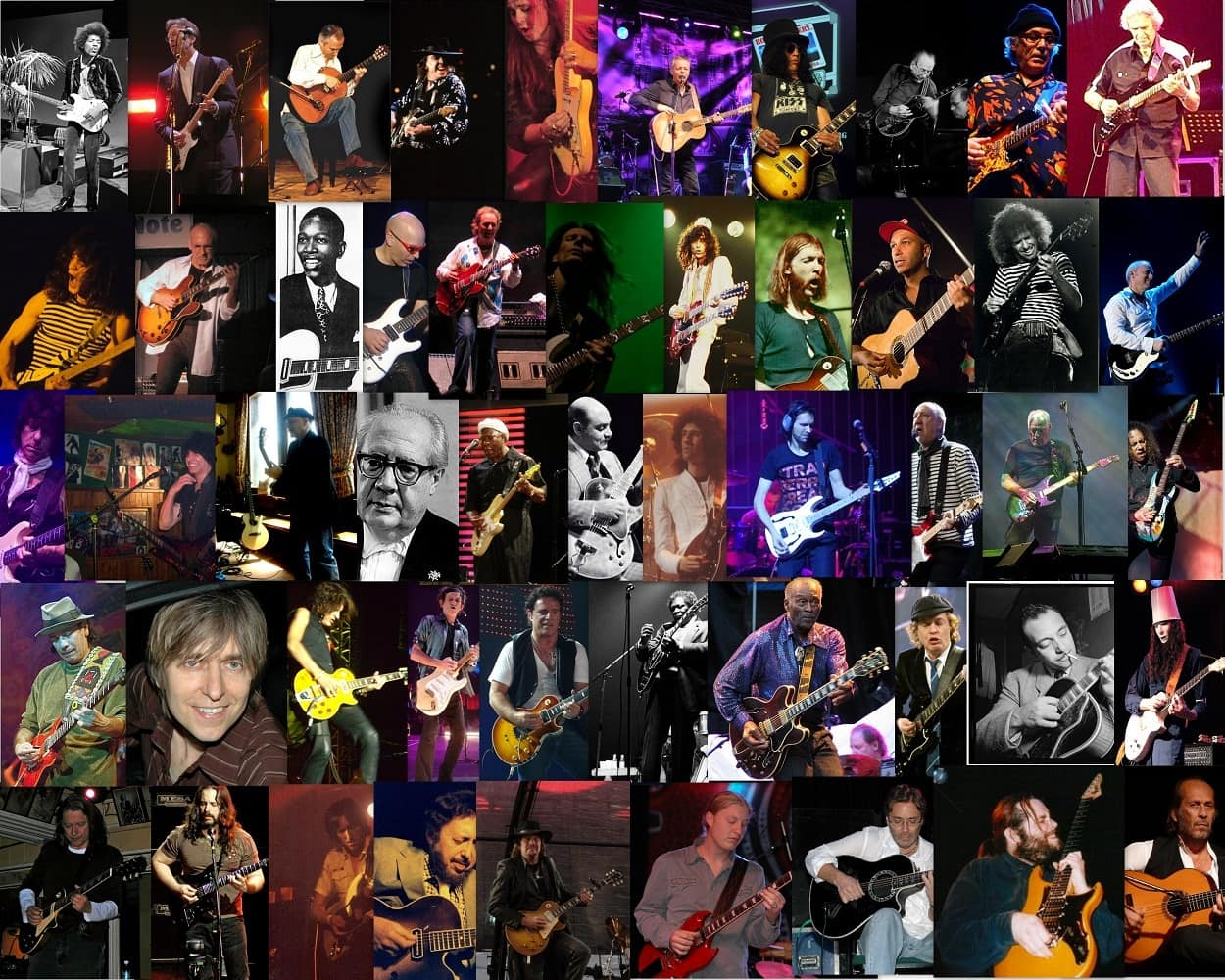 collection of guitarists