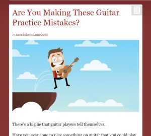 guitar playing mistakes