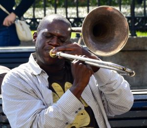 man playing jazz music