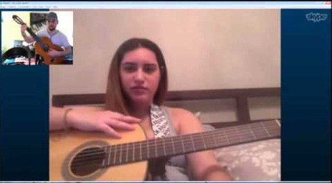 guitar lesson on skype
