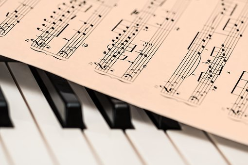 piano and music sheet