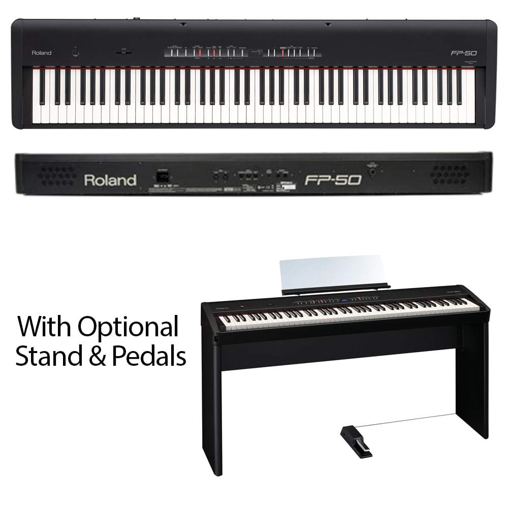 ROLAND FP50 - w/ Optional Stand & Triple Pedal - CLEARANCE