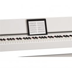 Roland F140r in White with iPad Closeup