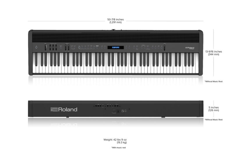 Roland FP-60X Dimensions