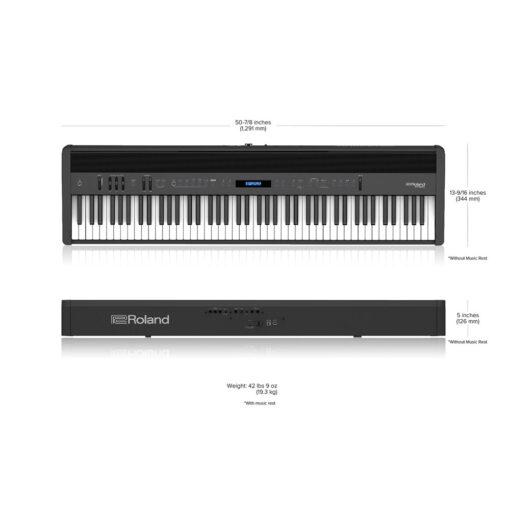 Roland FP-60X Size