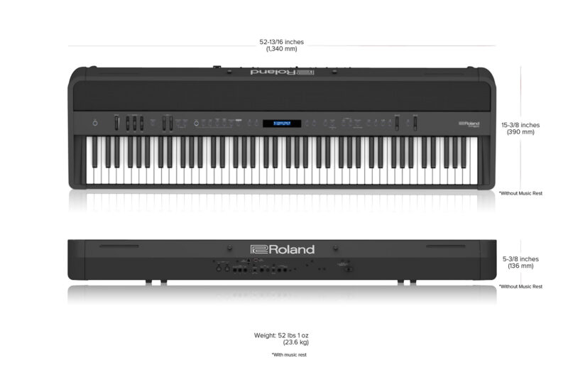 Roland FP-90X Dimensions