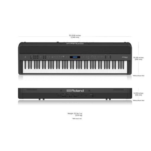 Roland FP-90X Size