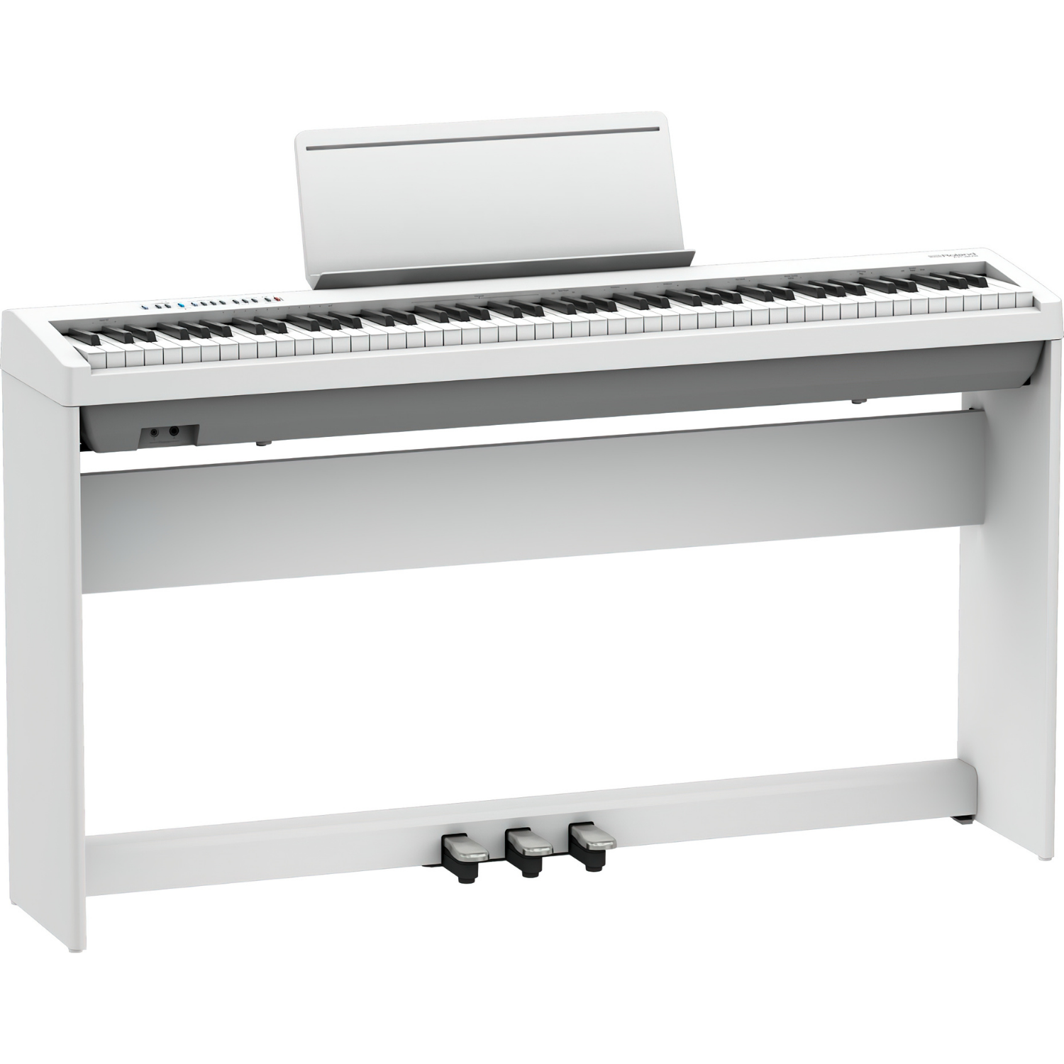 Roland FP30x with Stand & 3 Pedal System KSC70BK & KPD70BK - White