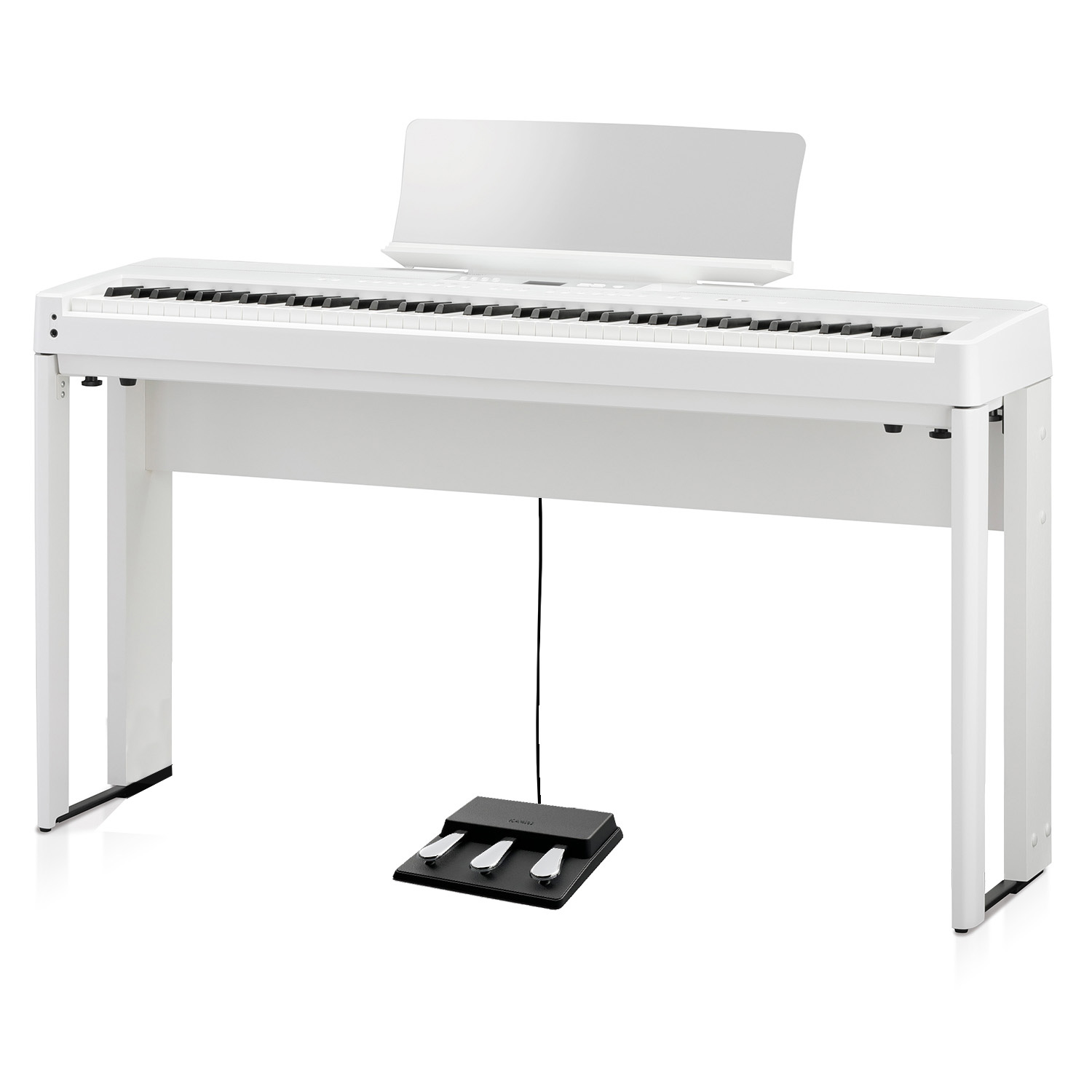 Kawai ES920 Stand Floating Triple Pedal White