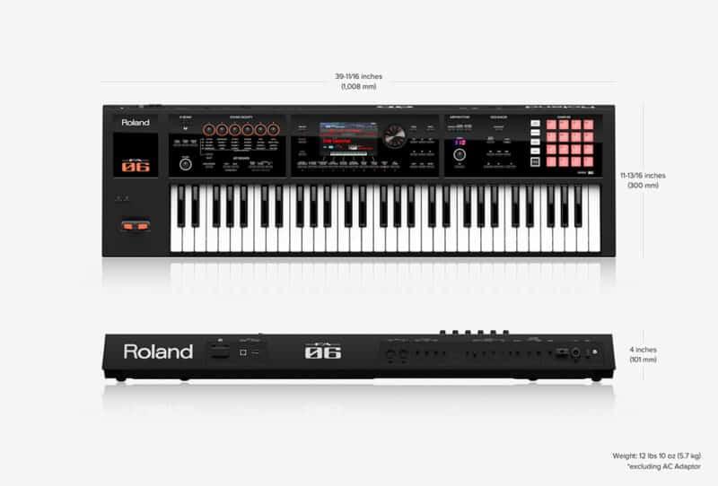 Roland FA-06 Dimensions